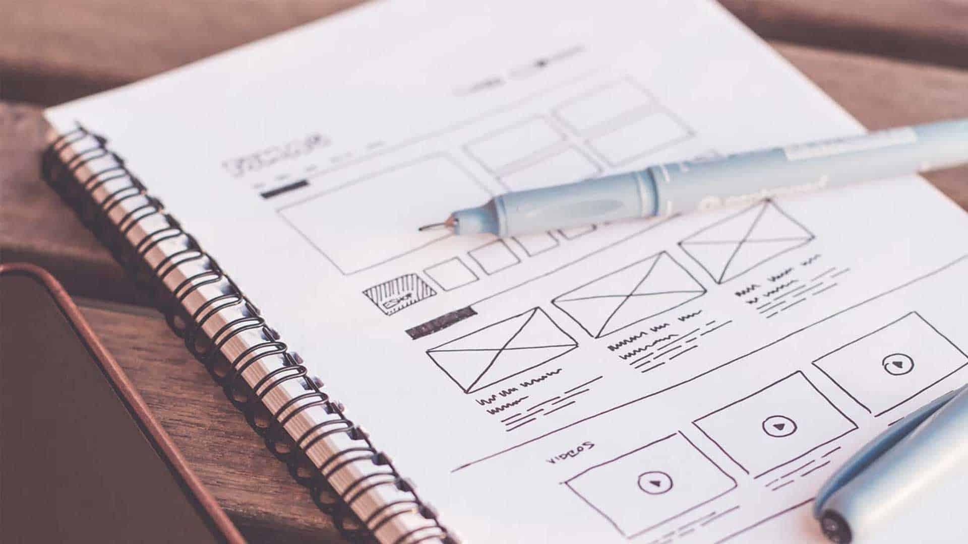 User Experience Design sketchbook